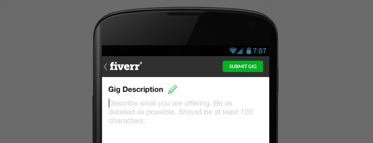 Gig Description for Fiverr