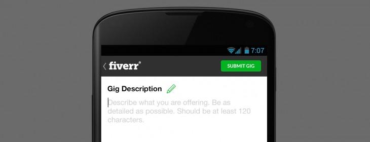 Gig Description for Fiverr